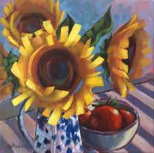 sunflower oil painting yellow fl display 12 12 inches 30cm abstract sunflowers
