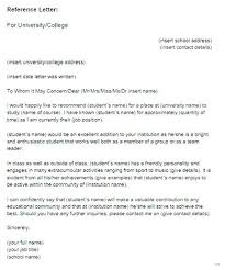 College Recommendation Letter Format Reference Template Doc Word ...
