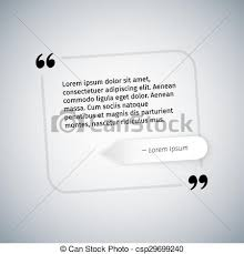 Simple Quote Template. Clipping Paths Included In Jpg File.
