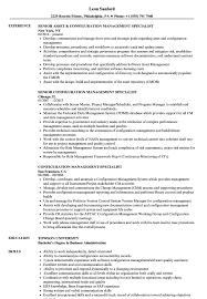 Configuration Management Resume Configuration Management Specialist Resume Samples Velvet Jobs 15