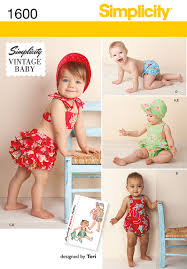 Simplicity Patterns Vintage New 48 Simplicity Pattern Babies Vintage Romper Set