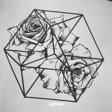 цветочная геометрия эскизы Rustattooru ростов на дону