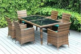 resin wicker patio dining sets coastal collection round outdoor wicker