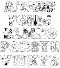 We have quite a few sets of alphabet printables around here, but none of them are a set of lettered alphabet coloring pages. Alphabet Coloring Page A Z Coloring Page Pedia Knizhka Raskraska Raskraski S Zhivotnymi Detskie Raskraski