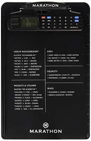 Metric Conversion Chart Calculator Amazon Com Marathon St083016bk Clipboard With Stopwatch