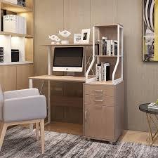 home office workstation. Wooden Computer Desk With Drawer For Home Office Workstation