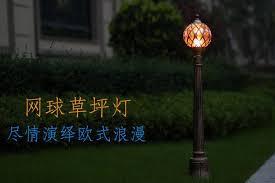 bronze europe garden outdoor pathway lighting tennis shape waterproof lawn lamp post light fixture aluminum 220v 110v