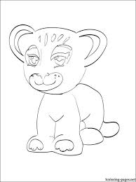 Tiger Lego Friends Printable Page Coloring Pages