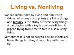 Venn Diagram Living And Nonliving Things