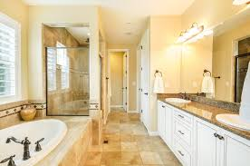 traditional master bathroom design ideas. Traditional Master Bathroom With Rain Shower, Simple Granite Counters, High Ceiling, Granite, Double Sink Design Ideas A