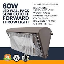 Led Wall Pack Lights Amazon 80w Wall Pack Led 10200 Lumens Led Powered Outdoor Security Semi Cutoff Wall Pack Lights Commercial Or Industrial Security Lighting 5000k Ul
