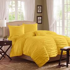 horizon ruched bedding set yellow