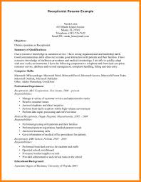 11 Receptionist Resume Examples Bill Pay Calendar