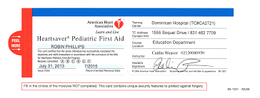 information on cpr first aid certif american heart ociation cpr certification lost card with welding certification