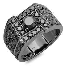 mens black titanium wedding bands with diamonds. 4.50 carat (ctw) 10k white gold round cut black diamond mens ring | amazon.com titanium wedding bands with diamonds