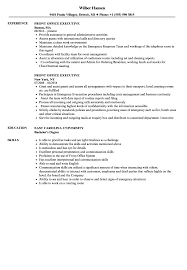 resume for front desk front office executive resume samples velvet jobs
