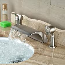 bathroom tub faucets luxury deck mount waterfall roman tub faucet single handle bathtub mixer tap with