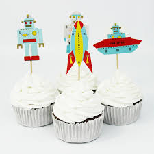 Cake Decorating Accessories Wholesale Wholesale 100 PCS Outer Space Rocket Astronaut Cupcake Topper Cake 95