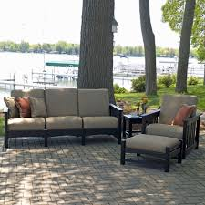 polywood 4 piece outdoor living patio set