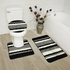 abby 3 piece bathroom rug set bath rug contour rug lid cover
