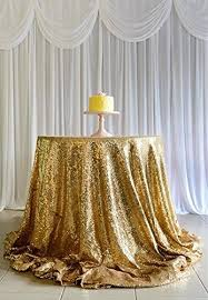 108 round gold sequin tablecloth overlays for wedding party