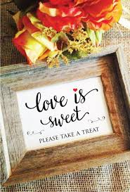 red heart love is sweet sign wedding sign lovely frame not included