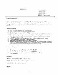 Testing Sample Resumes Sample Resume Format For Experienced Software Test Engineer New 23