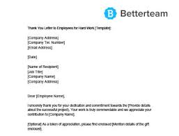 Thank You Letter For Job Opportunity Examples Thank You Letter To Employees Sample Free Download