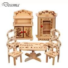 inexpensive dollhouse furniture. Mini Wooden Diy Doll Bedroom Set Simulation Dresser Small Furniture Miniature Model Toys Dollhouse Inexpensive P