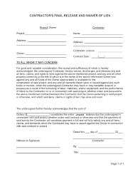 Contract Release Form Interesting Auto Lien Release Letter Template Intent To Awesome 48 Mechanics