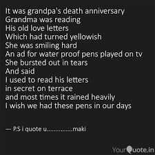 It Was Grandpas Death An Quotes Writings By Makesh Kumar