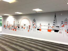 Office wall mural Paint Full Size Of Marvelous City Skyline Office Wall Mural Murals Toronto Scene Bedroom Decor Office Wall Roimediahost Office Wall Murals Likable Home Decals Creative Custom Mural