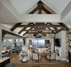 rafters living lighting. Exposed Beams And Rafters Living Room Traditional With Casual Elegance Prints Posters Lighting H