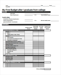 How To Budget As A College Student 31 Budget Templates Free Premium Templates