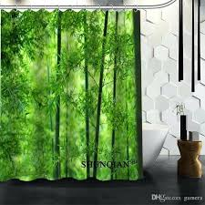 bamboo shower curtain best whole bamboo shower curtain high quality bath screens modern polyester fabric customized bamboo shower curtain