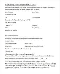 Quality Assurance Report Template 39 Free Incident Report Templates
