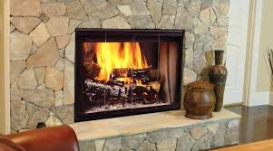 see through wood fireplace wood burning fireplace inserts designer series see thru wood burning fireplace wood