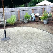 pea gravel patio gravel yard landscaping new pea gravel patio project backyard diy patio with pavers
