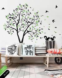 tree wall decal birds squirrels wall mural children wall sticker nursery graphic vinyl wall art tree