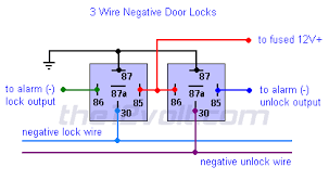 multiple wire power door lock systems add auto lock unlock 3 wire negative door locks relay diagram
