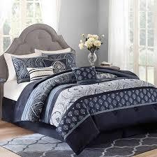 navy blue queen comforter. Simple Blue Better Homes And Gardens Indigo Paisley 7Piece Bedding Comforter Set  Walmart 70 For Navy Blue Queen C