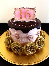 11 Rose Gold Sweet 16 Cakes Photo Pink And Gold Sweet 16 Cake