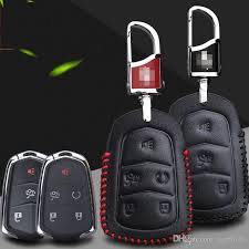 premium leather remote key holder fob case cover for cadillac atsl xts ct5 srx 5 on