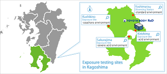 exposure testing site map
