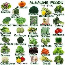 Alkaline Food Chart Perfect For The Nutribullet Alkaline