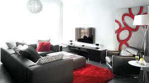 Elegant Deco Rouge Et Noir Salon Rouge Stunning Contemporary Design Idee .