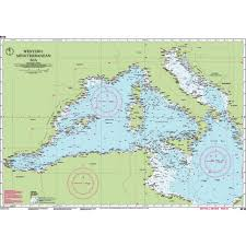 Imray Charts Mediterranean Chart M10 Western Mediterranean