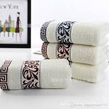 Designer bath towels Hanging Luxury Bath Towels Designer Geometric Pattern Embroidery Towel 3575cm High Quality Cotton Material Christmas Family Gift Bath Towels Canada Bath Towels Indiamart Luxury Bath Towels Designer Geometric Pattern Embroidery Towel 35
