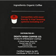Using this estimate, one death wish coffee would be like. Death Wish Coffee Co Coffee Death Cups Single Serve Coffee Pods 10 Each Instacart