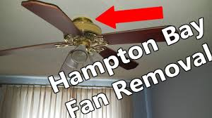 how to remove hampton bay ceiling fan no s